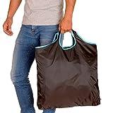 gripONE XXL Shopper Mint - große, Faltbare Einkaufstasche aus Hochwertiger Fallschirmseide, dadurch extrem robust, leicht und kompakt