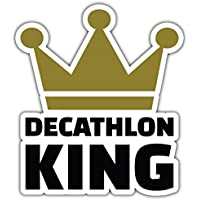 SkyBug Decathlon King Bumper Sticker Vinyl Art Decal for Car Truck Van Wall Window (20