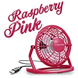TROTEC TVE 1P Mini USB Ventilator/Fan / Lüfter Raspberry Pink, geräuscharm mit An/Aus-Schalter, 360° Neigungswinkel, ideal für Schreibtisch Laptop Notebook, oder unterwegs (pink)