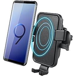 Chargeur sans Fil Rapide Voiture, NOVETE Qi Chargeur de Voiture, Rapide Chargeur Auto Induction pour Samsung Galaxy S9/S9 Plus/S8/S8 Plus/Note 8/S7/S7 Edge/S6 Edge Plus/Note 5 …