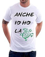 Idea Regalo - t-shirt anche io ho la tartaruga frase simpatica summer S M L XL XXL maglietta by tshirteria