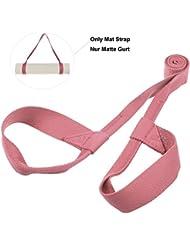 Yoga Matten Gurt,YAMAY® Yoga-Matte Nylon Schlinge Tragegurt Gürtel Rutschfest Einstellbar für Yoga-Matte/Pilates-Übungen/Aerobic Fitness-Matte