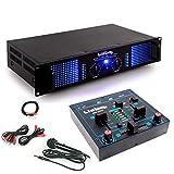 PA Erweiterungs Anlage 2400 Watt Verstärker Kompakt Mischpult DJ-Add-On 6
