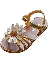 f8d97a685680b OHQ Filles Enfants Fleur D éTé Sandales Rome Chaussures Princesse Rose  Toddlerkids BéBé Garcon Mariage