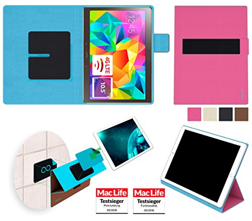 amsung Galaxy Tab S 10.5 Tasche Cover Case Bumper | in Pink | Testsieger ()