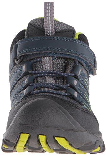 Keen Oakridge Mid Wp, Chaussures de Randonnée Hautes Mixte Enfant Bleu (Midnight Navy/Macaw)