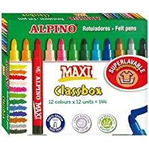 Alpino  - Economy pack 144 rotuladores  maxi-12 uds.x 12 color.