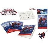 Colorbaby, 71904, pack 10 invitaciones spiderman, para fiestas y cumpleaños