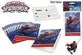 COLORBABY, 71904, Pack 10 Spiderman Einladungen, für Partys und Geburtstage