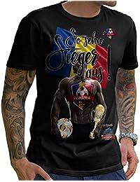 Stylotex Herren T-Shirt Basic So sehn Sieger aus Guy Rumänien Romania