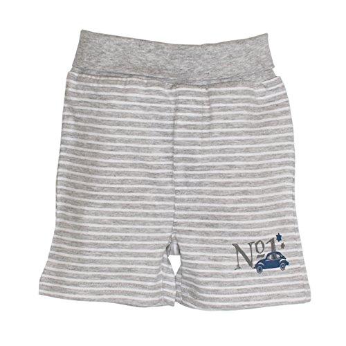 SALT AND PEPPER Baby-Jungen NB Shorts Racer Stripe, Grau (Grey-Melange 212), 62
