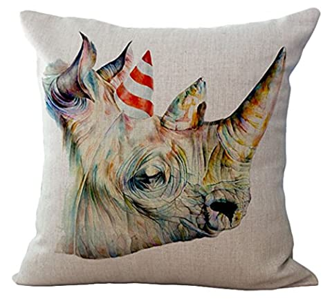 Decors Square Decorative Throw Pillow Case Cushion Cover Rustic Deer Buck Burlap Throw Pillows 18 X