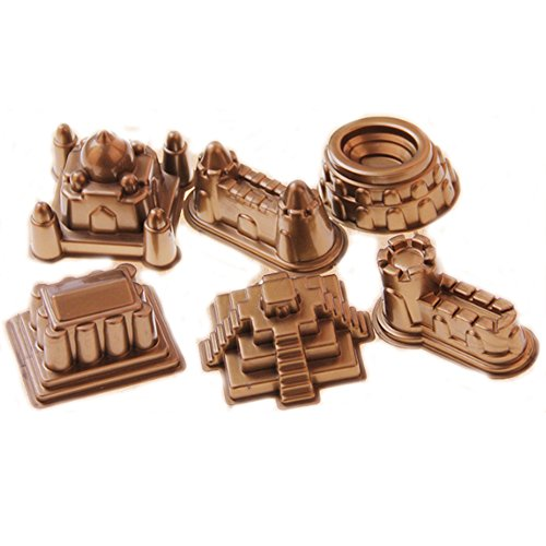 Newin Star Sand Spielzeug Set, 6 Stück Sandspiel Molds Magic Space Sand Zubehör für Kinetic Sand Molds für Kinder ab 3 Jahren (Schlösser)
