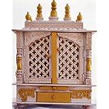 Jodhpur Handicrafts Wooden Temple with LED Bulb