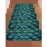 YZ-YUAN Rechteckige Teppich-Treppenstufen-Matten, Stufenmatten 22 * 70Cm Rutschfest | Verschmutzungsfreier, Unglaublich Robuster Mit Hohem Verkehrsaufkommen Erhältlich Test