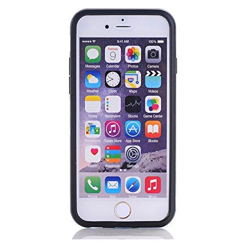 BCIT iPhone 6 6S Plus Custodia - Ultra Sottile 2-in-1 Case Protettivo Estrema Assorbimento-Urti [Kickstand] Armatura Cover Per iPhone 6 6S Plus - Nero Blu