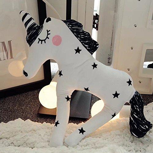 he Einhorn Pferd Puppe Cartoon Tier Plüsch Stofftier für Kinder Geburtstag Geschenk (Tier-puppen)