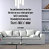 Sweet Child Of Mine - Guns N Roses Etiqueta de la pared disponible en 5 tamaños y 25 colores X-Large Negro