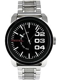 Diesel Herren-Armbanduhr Double Down 46 Analog Quarz Edelstahl DZ1370