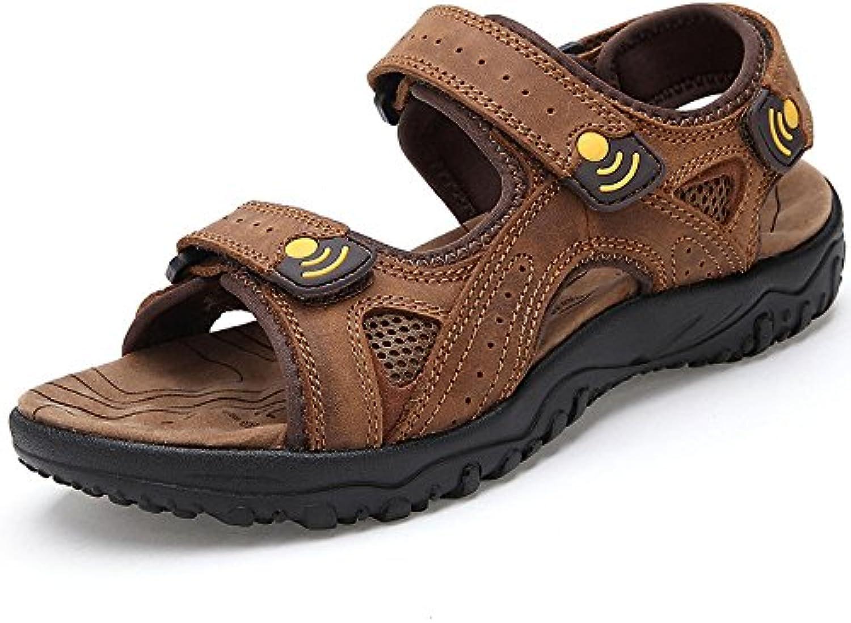 LEDLFIE Herren Sandalen Outdoors Beach Schuhe Herrenschuhe Brown 38LEDLFIE Sandalen Outdoors Herrenschuhe Brown 38 Billig und erschwinglich Im Verkauf
