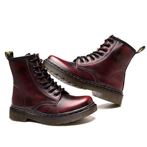 FZUU Neue Ankunfts Art Handgemachte Super Warme AutumnWinter Männer Schuhe Casual British Style Ankle Boots Wipe Farbe Martin Stiefel Rot