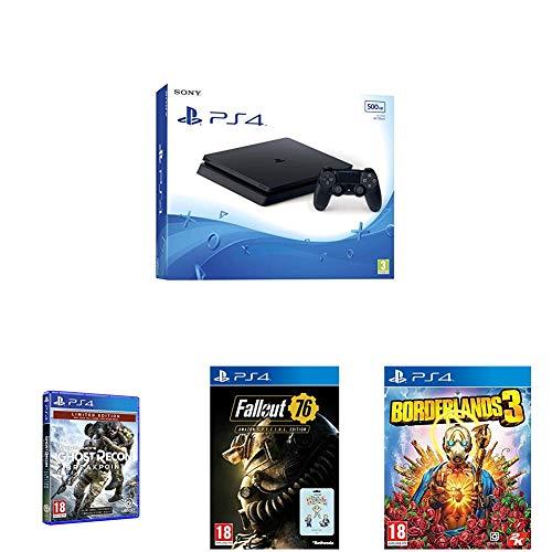 Pack PS4 Slim 500 Go + 3 jeux