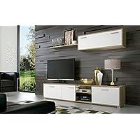 HomeSouth - Mueble de comedor, salon modelo Dafne, acabado color Cambria y Blanco, medidas: 200 cm de ancho