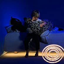 ledgle LIGHT Luz de sensor de movimiento de 1.5M Luces brillantes flexibles de la noche de la cama de tira del LED encienden para arriba su dormitorio, sitio del cabrito, armario, cuarto de baño, (1.5M)