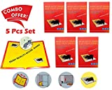 #5: Gambit Catch Mouse/Rat Glue Traps, 5pc Mouse Insect Rodent Lizard Trap Rat Catcher Adhesive Sticky Glue Pad for Rats/Lizards/ Cockroaches/Ants/ Mouse/Rodents (Pack of 5)