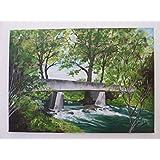 Acryl Bild auf Leinwand (Keilrahmen) Brücke - 70 x 50 cm