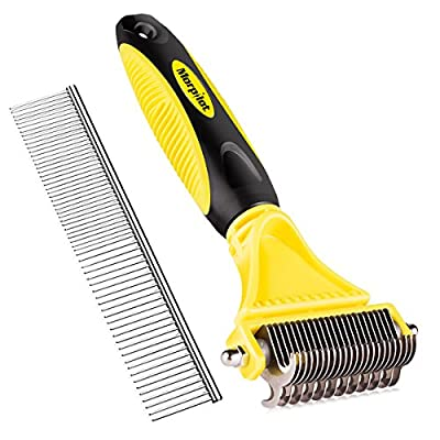 orpilot Pet Grooming Dematting Comb Tool Kit - Double Sided Blade Rake Comb by morpilot