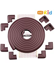 Vic Kid® Edge & Corner Guard for Baby Proofing | Child Safety Furniture Bumper | Table Protectors | Safe Edge & Corner Cushion (Extra Thick, 13 Ft Edge + 8 Corners)