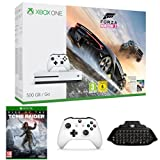 Xbox One - Consola S 500 GB Forza Horizon 3 + Rise Of The Tomb Raider + Mando Adicional + Chatpad + Headset