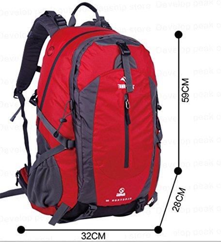 ALUK-borsa a tracolla zaino esterno borsa a tracolla Lesbiche spalle da trekking impermeabili alpinismo borse rosso