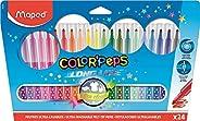 Maped - Feutres Long Life - 24 Feutres de Coloriage Ultra-lavables et Longue Durée - Pointe Moyenne Bloquée -