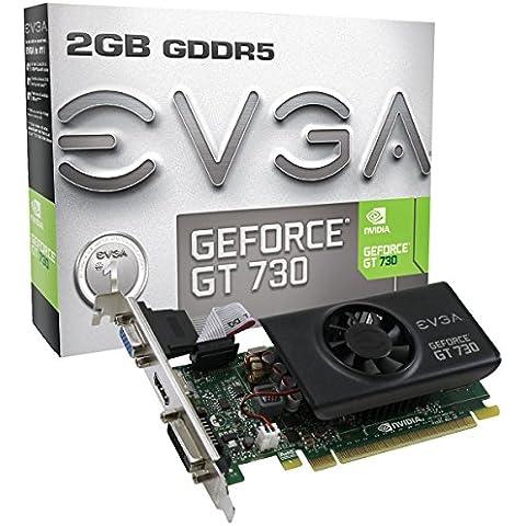 EVGA 02G-P3-3733-KR NVIDIA GeForce GT 730 2GB - Tarjeta gráfica (Activo, NVIDIA, GeForce GT 730, GDDR5-SDRAM, PCI Express 2.0, 3840 x 2160 Pixeles)