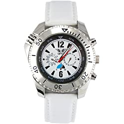 Softech London CN6080 Analogue Mens Watch In White Strap / White Face CN6080
