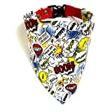 #2: That Dog In Tuxedo Super Hero Comic Dog Bandana (M-L)