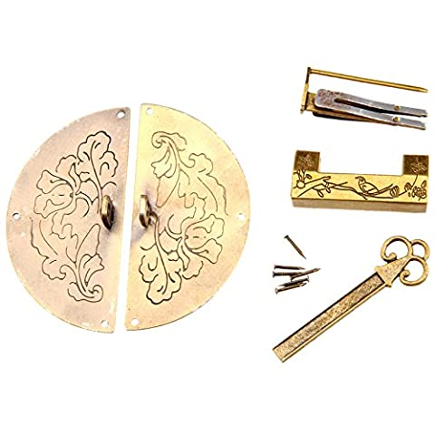 Retro Lock Kit Pull Handle Door Knock Chinese Old Style Decorative Furniture