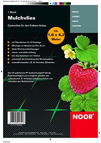 Mulchvlies Gartenvlies Vliese Garten für Erdbeeren 1,6x4,2m Vlies Unkraut