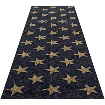 Moderner Läufer Teppich Brücke Teppichläufer Sterne Stars