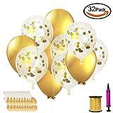 Outuxed Ballons Party Dekorationen Luftballons mit Ballonbändern und Luftpumpe