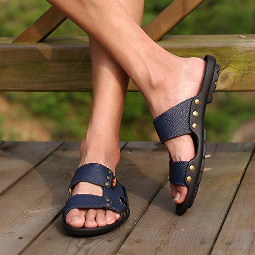 Sandalen Sandalen Männer Hausschuhe Outdoor-Watschuhe Blue