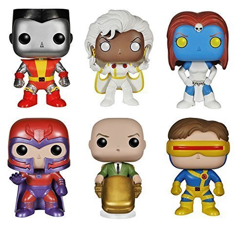 Pop! Marvel: X-Men: Colossus, Cyclops, Professor X, Storm, Mystique & Magneto - Set of 6 Vinyl Figures by FunKo