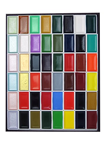 Japanische Tuschmalerei Pan Aquarellfarben - 48 Farben - Import aus Kyoto Japan