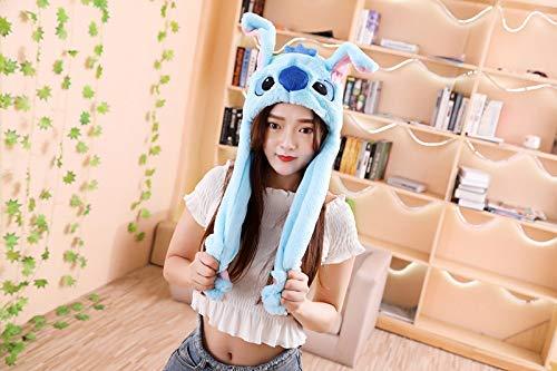 popluxy Beweglicher Ohr Hut Lustige Spielzeug Hat Plüsch Niedlichen Hut /Animal Hat Cosplay Kostüm als Geschenk für Frauen und Kinder (Frauen Niedlichen Für Tier-kostüm)