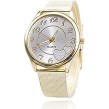 Relojes Pulsera Mujer,Xinan Reloj de Oro Malla reloj Venda (Plata)