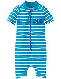 Schiesser Baby Boys' Aqua Jumpsuit Swimsuits