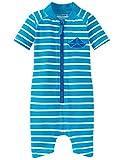 Schiesser Jungen Einteiler Aqua Baby-Jumpsuit, (Blau 800), 104 (Herstellergröße: 415)