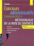 CONCOURS ADMINISTRATIFS CATEGORIES B ET A METHODOLOGIE DE LA NOTE DE SYNTHESE. Concours interne et externe